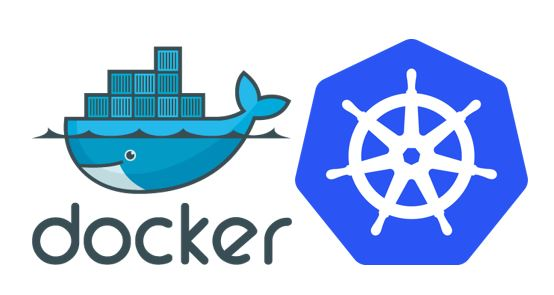 Docker and Kubernetes Logos