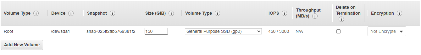 Spinnaker storage mentioned by default from the root volume