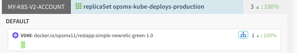 Server Groups after the first Spinnaker Blue/Green deployment to Kubernetes