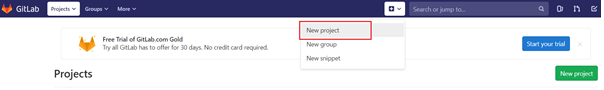 Add New Project in GitLab