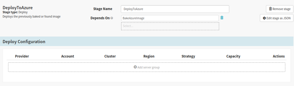 Create Deploy Stage for deploying the app to Azure