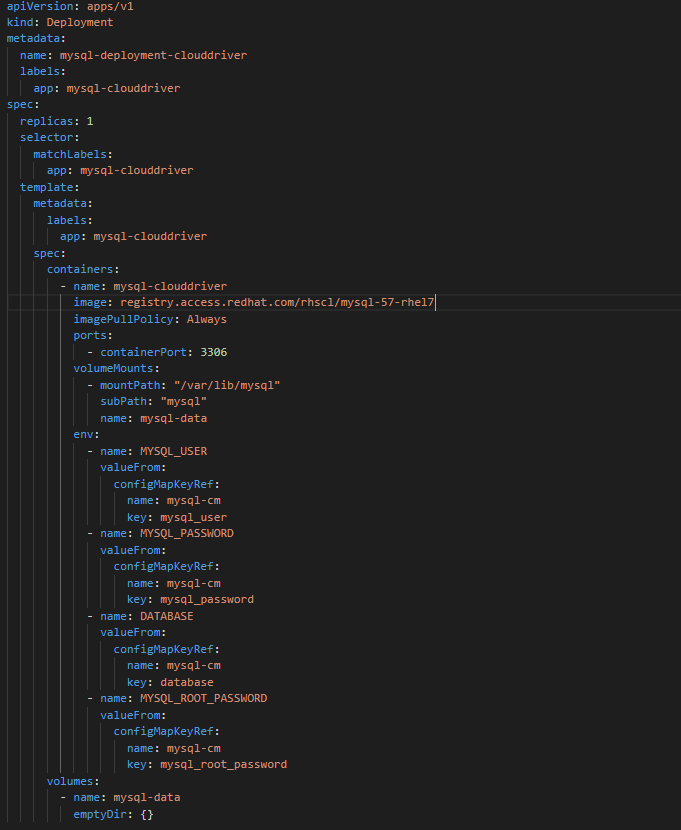 Configuring MySQL deployment for Spinnaker Clouddriver
