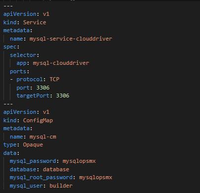 MySQL service for Spinnaker Clouddriver