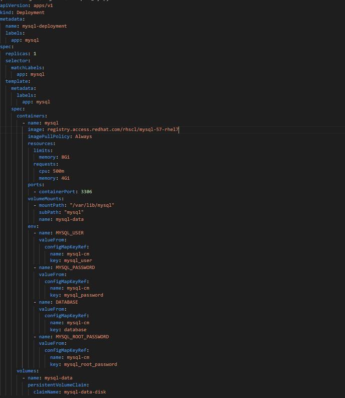 Configuring MySQL deployment for Spinnaker Orca