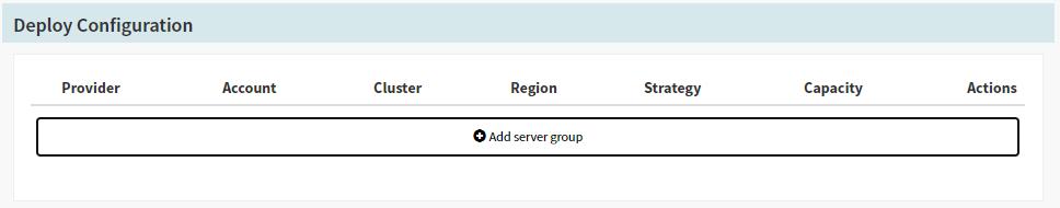 'Add Server Group' under 'Deploy Configuration' in Spinnaker