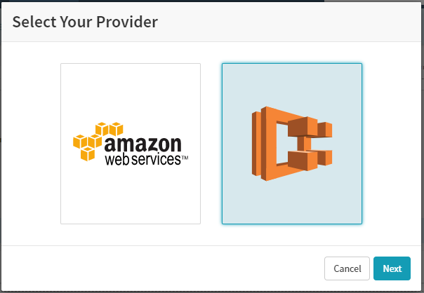 Select AWS ECS as Cloudprovider in Spinnaker