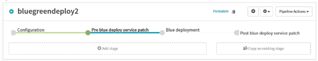 Patch Stage in Spinnaker for service to share traffic between existing green and upcoming blue deployments on Kubernetes