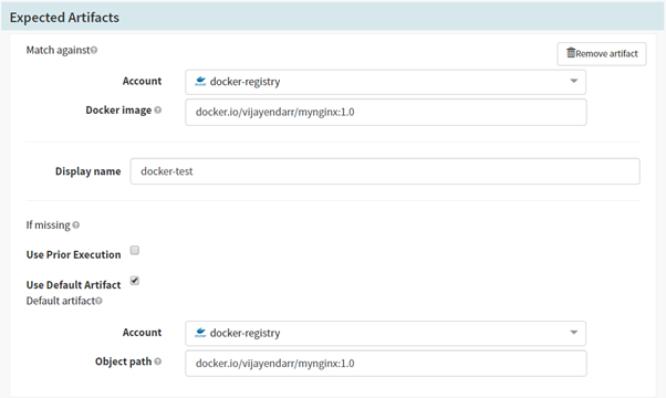 Add artifact account in Spinnaker CD Pipeline for deployments on Kubernetes