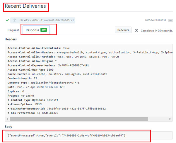 Verification of the Spinnaker deployments on Kubernetes -Recent Deliveries