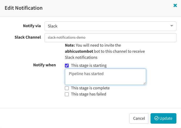 Custom edit Notification
