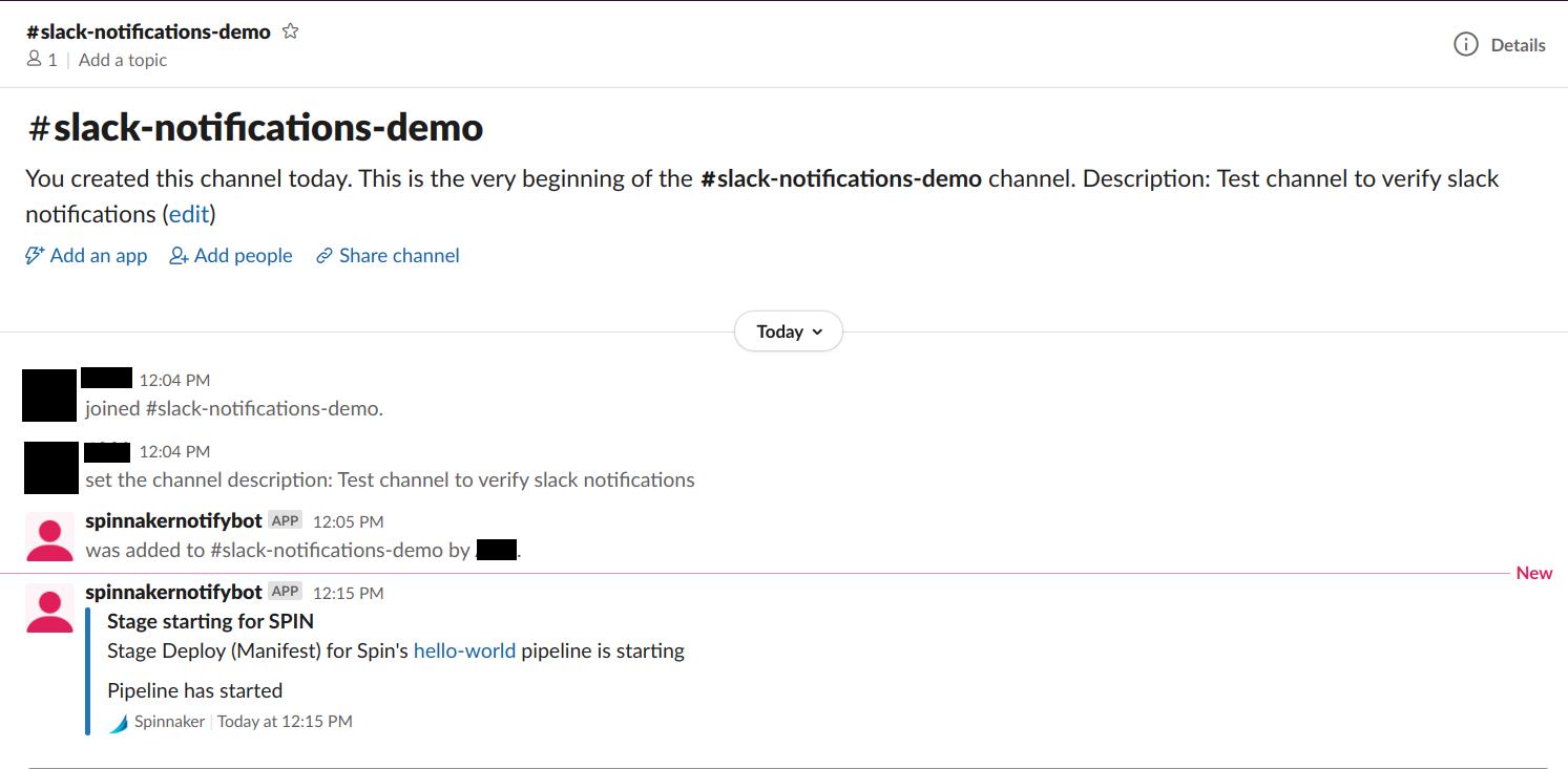 View notification with a link to the pipeline in the slack channel