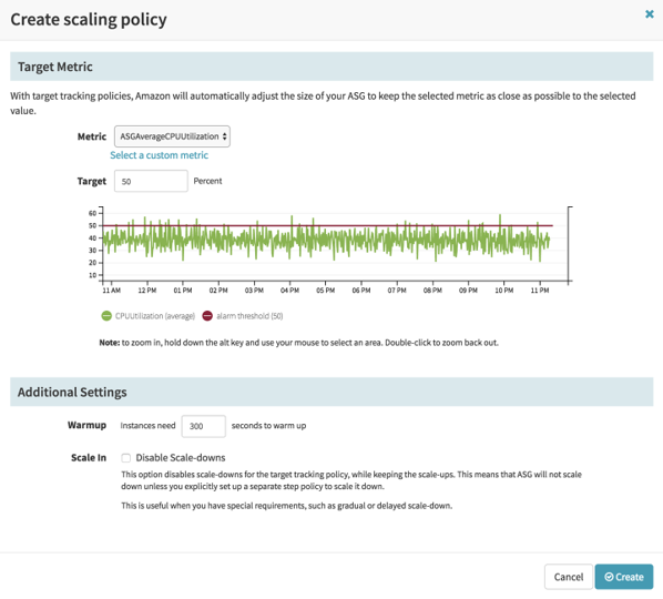 Create Scaling Policy in Spinnaker pipelines
