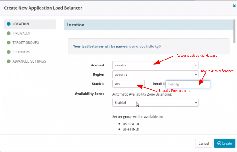 Configure AWS Load Balancer in Spinnaker