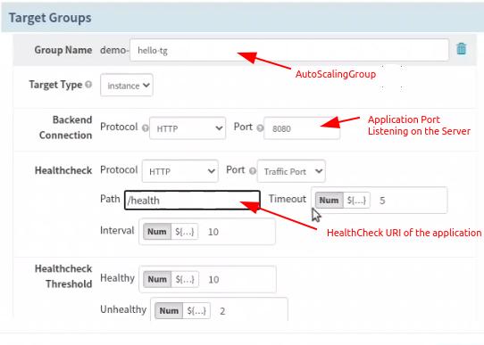 Configure Target Groups in Spinnaker