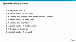 Steps to deploy Spinnaker
