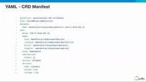 YAML - CRD Manifest