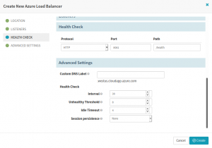 Configure Healthcheck in the Azure LoadBalancer in the Spinnaker CI/CD pipeline