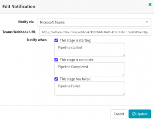 Configure MS Teams notifications in Spinnaker