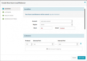Create an Azure LoadBalancer in the Spinnaker CI/CD pipeline