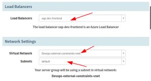 Insert your Virtual Network and Subnets where the deployment is going to take place.