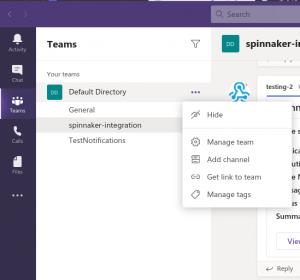 Add channel in MS teams